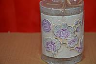 Свеча Столбик орхидея ЕКО капучино малый
