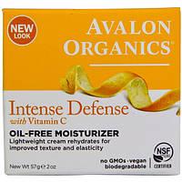 Avalon Organics, Интенсивная защита с витамином С, увлажнитель без масла  (57 г)