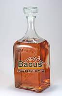 """Бутылка стеклянная 3,0л с надписью """"Магарыч"""" и стеклянной пробкой"""