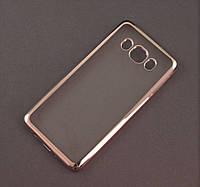 Чехол TPU Remax для Samsung Galaxy J5 2016 J510 прозрачный серебристый хром