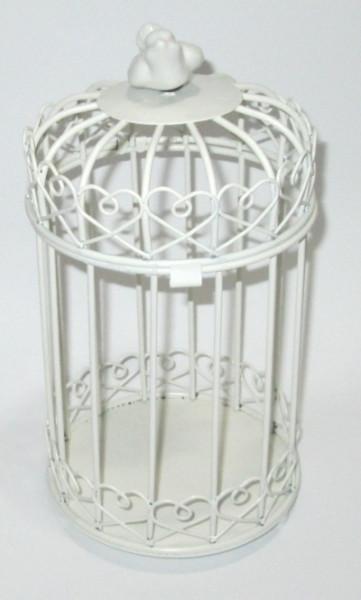 Клетка декоративная 24*14 см, белая
