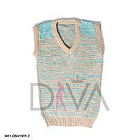 Жилетка детская теплая  W11-DSV1001-2 купить детские свитера и жилетки в интернете