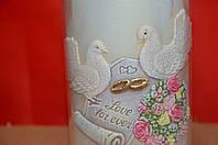 Свеча Столбик Свадебные голуби большие