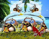 Комплект постельного белья полуторный ТМ Таg Мадагаскар