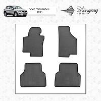 Коврики резиновые в салон Volkswagen Tiguan I c 2007 (4шт) Stingray