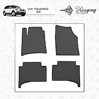 Коврики резиновые в салон Volkswagen Touareg c 2002 (4шт) Stingray