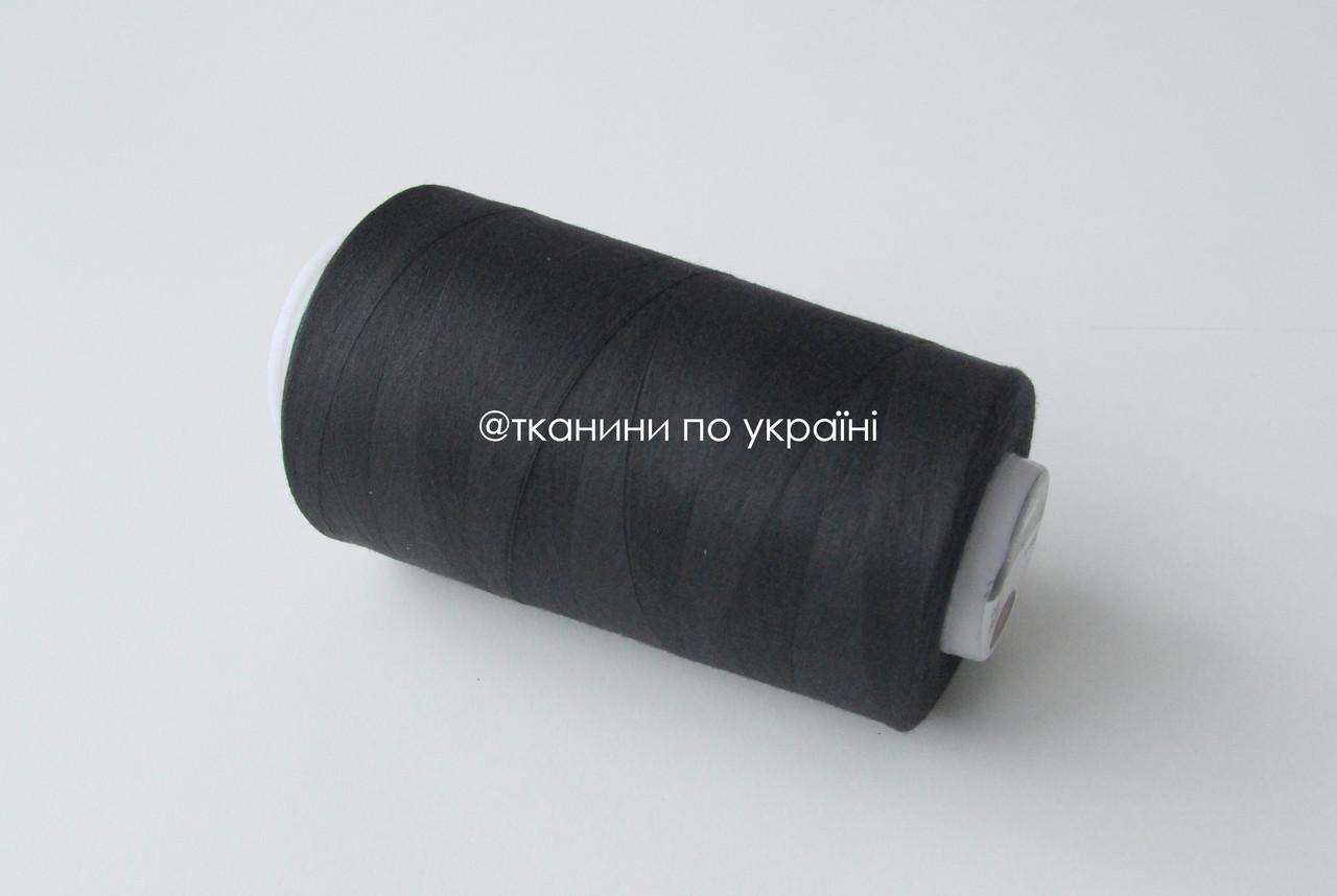 Нитки швейные 42/2, 3000 метров, черный