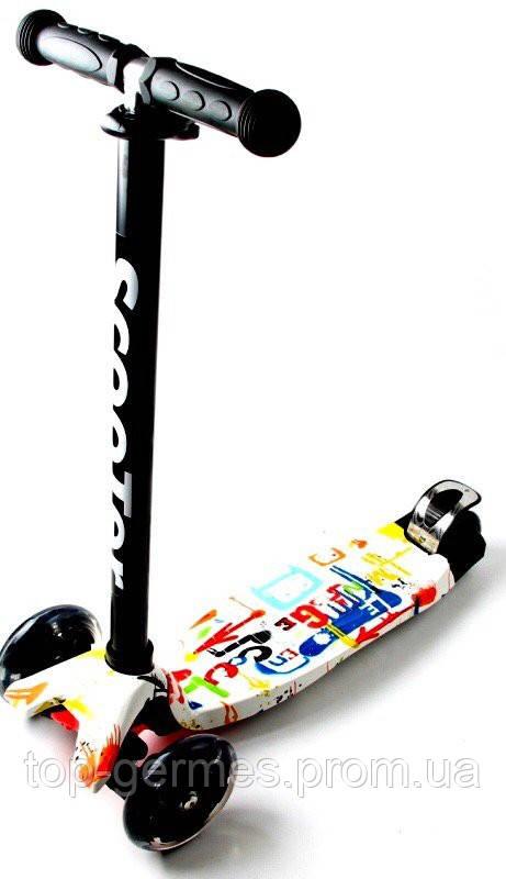 Самокат-скутер трехколесный