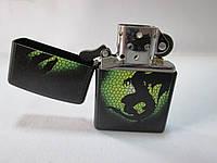 Зажигалка  ZIPPO (28135) чёрная, матовая, рисунок - дракон, фото 1