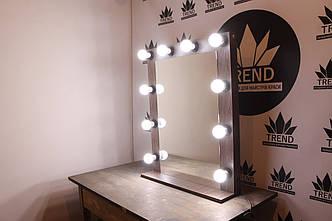 Зеркало макияжное, гримерное, в цвете венге, фото 2