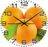 """Часы стеклянные """"Апельсин"""""""