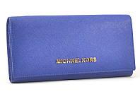 Кожаный кошелек Michael Kors 505 (blue)