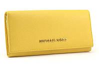 Кожаный кошелек Michael Kors 505 (yellow)
