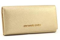 Кожаный женский кошелек Michael Kors 505 (gold)