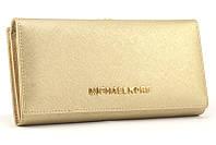 Кожаный кошелек Michael Kors 516 (gold)