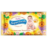 SUPERFRESH Вологі серветки для дітей і мам 60 шт. РОМАШКА