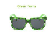 Пиксельные солнцезащитные очки Minecraft Салатовый
