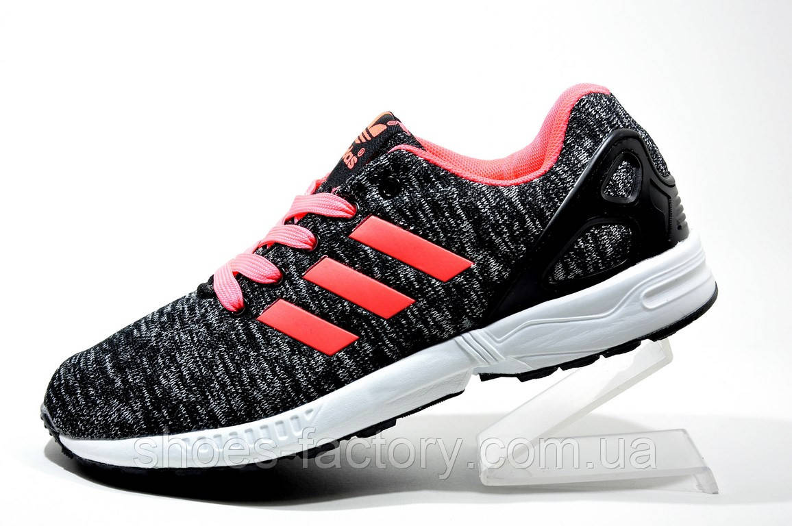 78223c6e Кроссовки женские в стиле Adidas ZX Flux, Gray\Coral - купить по ...