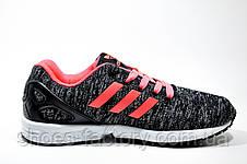 Кроссовки женские в стиле Adidas ZX Flux, Gray\Coral, фото 3