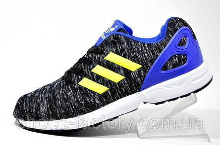 Кроссовки унисекс Adidas ZX Flux, Gray\Blue\Lime, фото 2