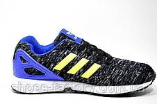 Кроссовки унисекс Adidas ZX Flux, Gray\Blue\Lime, фото 3