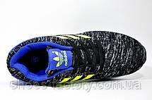 Кроссовки унисекс в стиле Adidas ZX Flux, Gray\Blue\Lime, фото 2