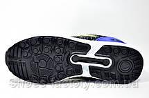 Кроссовки унисекс в стиле Adidas ZX Flux, Gray\Blue\Lime, фото 3