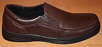 Мужские туфли кожаные коричневые, туфли мужские из натуральной кожи от производителя модель АМТ121ко