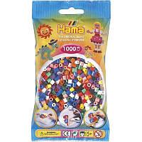 Набор бусин для термомозаики Hama Midi Цветные  бусины 10 цветов 5+ 1000 шт (207-00)