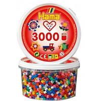 Термомозаика Hama Midi Цветные бусины 10 цветов  5+ 3000 шт (210-00)