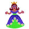 Поле для термомозаики Hama Midi Принцесса (258)
