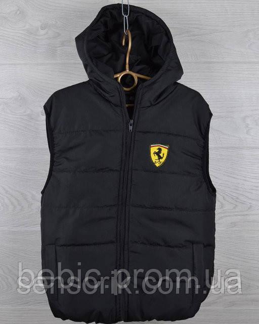 """Детская демисезонная жилетка """"Ferrari"""". 5-6 лет."""
