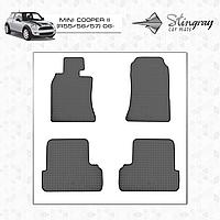 Коврики резиновые в салон Mini Cooper II (R55/56/57) 2006- (4шт) Stingray 1032014