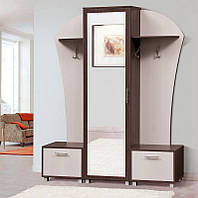 Мебель для прихожей Дуэт, темный венге недорогая готовая мебель в прихожую 1550*1960*385