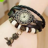 """Женские наручные часы-браслет с подвеской """"сова"""""""