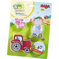 Обучающая игрушка Haba Фигурки Фермер и трактор  (5586)