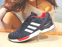 Мужcкие кроссовки Adidas ZX Flux сине-красные 41 р.