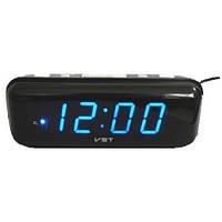 Часы настольные электронные цифровые VST 738-5, синяя подсветка, ж/к дисплей, будильник, память