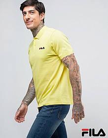 Футболка Поло Fila | Желтая тенниска Фила