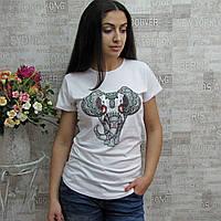 """Футболка женская из коттона, """"Keppa"""", Турция. Женские турецкие модные  футболки  из лопка"""