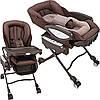 Кресло-кроватка Aprica Yura Lism Auto HIDX Pomoze (4969220917115)