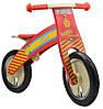 Беговел Kiddi Moto Kurve деревянный, пожарная  машина (SKD-19-95)