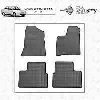 Коврики резиновые в салон Lada 2110,2111,2112 (4шт) Stingray