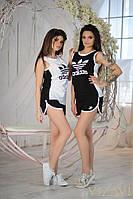 Женский спортивный костюм шорты+майка в двух цветах. Материал хлопок. Размер 42, 44, 46