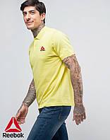 Футболка Поло Reebok | Желтая тенниска Рибок