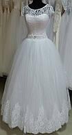 """Свадебное платье """"Барбара-6"""" (юбка - высокие кружева)"""