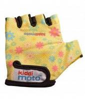Перчатки детские Kiddi Moto жёлтые с цветами,  размер S на возраст 2-4 года (CLO-36-36)