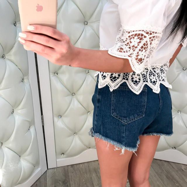 Женские джинсовые стильные шорты