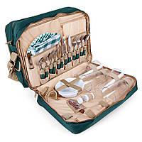 Сумка-набор для пикника HB4-425, набор посуды на 4 персоны, изотермическое отделение 20 л