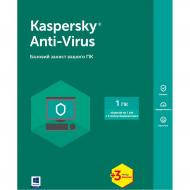Антивирус Kaspersky Anti-Virus Base Box (KL1171OUABS17) 1 ПК 1 год + 3 мес Русская